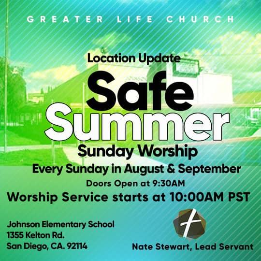 Safe Summer Worship Graphic