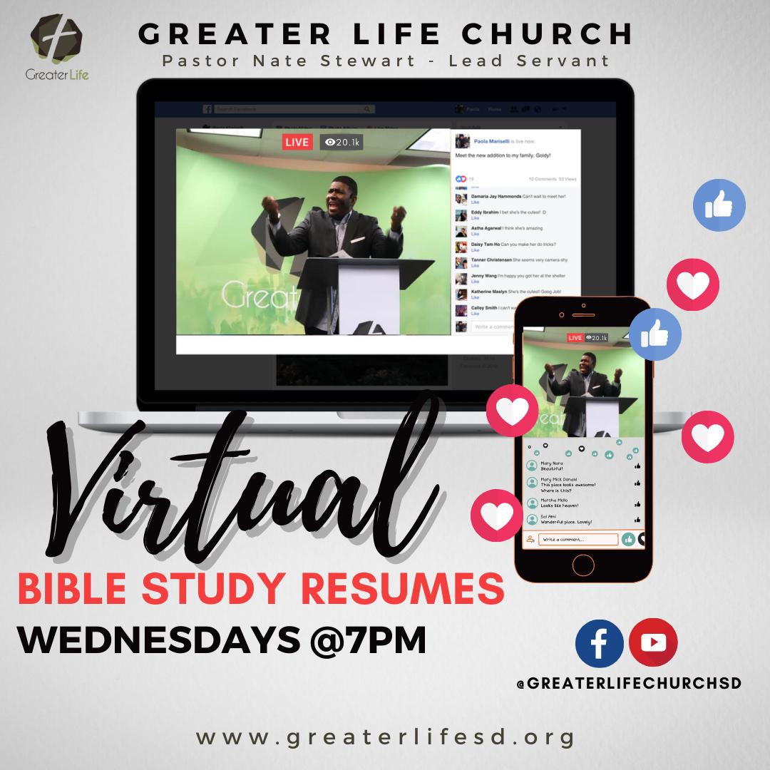 Virtual Bible Study Resumes Graphic