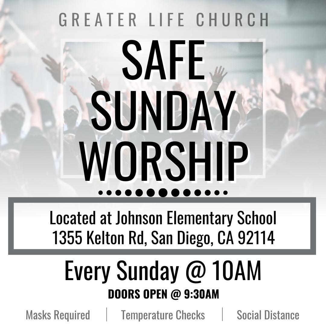 Safe Sunday Worship Graphic